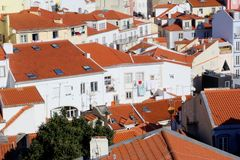 View rooftops Alfama, Lisbon Royalty Free Stock Images