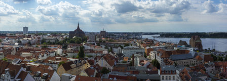 View above Rostock Saint Petri Church Stock Photo