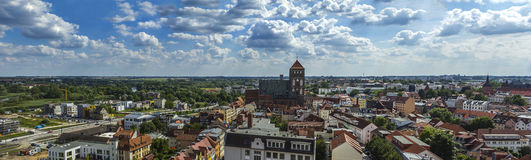 View above Rostock Saint Petri Church Royalty Free Stock Photography