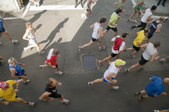 View from above of runners Royalty Free Stock Photo