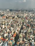 View from above of Saigon city royalty free stock image