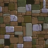 Seamless background texture old color stone wall. Vector illustration For Ui Game element Royalty Free Stock Photo
