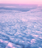 View from above. Sky and clouds image taken form above while flying in a plane Royalty Free Stock Photos