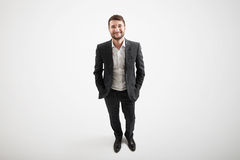 View from above of smiley businessman Royalty Free Stock Photo