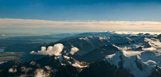 View above the Southern Alps Stock Images