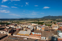 View from above on Spanish town Royalty Free Stock Photography