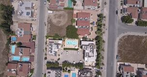 View from above from still drone stock video