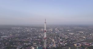 View from above from still drone stock footage