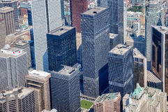 View from above of TD Center historic buildings Stock Photo