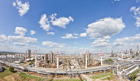 View from above of the territory occupied by the refinery Royalty Free Stock Photography