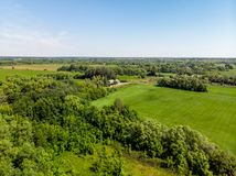 view from above to countryside in summer in Lipetsk region in Russia Royalty Free Stock Images