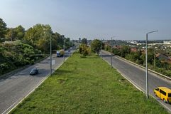 View from above to highway Ruse-Sofia Stock Photography