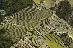 View from above to the Machu-Picchu Stock Image