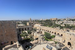 View from Above of the Tower of David Stock Images
