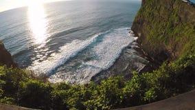 View from above. Uluwatu, Bali, Indonesia. View from above. Uluwatu, Bali Indonesia Slowmo stock video