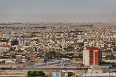 View from above on an urban landscape, Kashan, Iran. royalty free stock photography