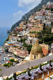View from above of the village of Positano. Stock Photography
