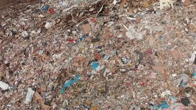 View from above of Waste at the landfill stock video footage