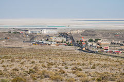 View from above West Wendover, Nevada Royalty Free Stock Images