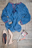 View from above of womans fashion with accessories Stock Photo