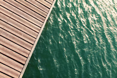 View from above of wooden pier. Summer holiday Stock Photography