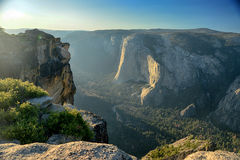 View from above on Yosemite valley from Taft Point Stock Photography
