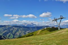 View above Zell am See. From the Austrian Alps Royalty Free Stock Images