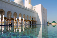 A view on the Abu Dhabi Mosque. A beautiful view on the Abu Dhabi Mosque stock photos