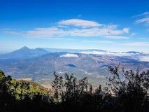 View from  Acatenango volcano ,Guatemala. Trekking trail of  Acatenango volcano Stock Image