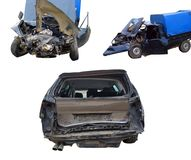 Accident car crush. View of Accident car crush royalty free stock photo