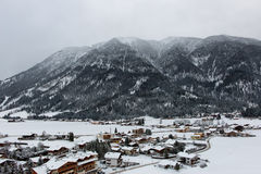 View of Achenkirch, Austria, a scenic ski resort Stock Photos