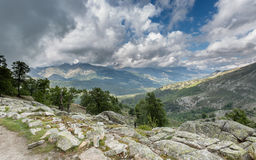 View acorss Corsican mountains from GR20 Royalty Free Stock Image