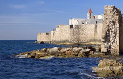 A view of acre ancient city walls Stock Photo