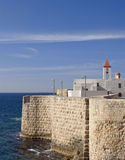 A view of acre ancient city walls Stock Photography