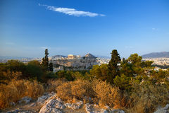 View on Acropolis. At sunset, Athens, Greece Stock Photography
