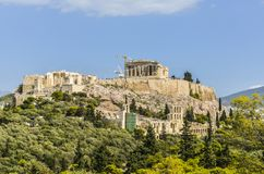 Acropolis. View of the acropolis as a whole and monuments Royalty Free Stock Photos