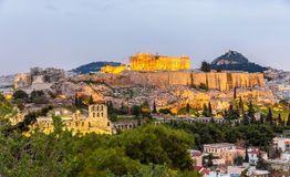 View of the Acropolis of Athens Royalty Free Stock Image
