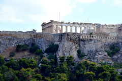 View of the Acropolis. This is the Acropolis in Athens, Greece Royalty Free Stock Image
