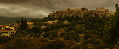 VIew of acropolis in Athens, Greece Royalty Free Stock Photo