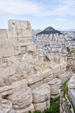 View from the Acropolis of Athens to the Athens suburb Royalty Free Stock Photo