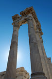 View of Acropolis in Pergamon, Turkey. Stock Image