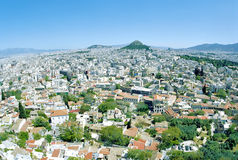View from the Acropolis to Athens Royalty Free Stock Photography