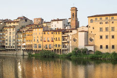 View across Arno River Royalty Free Stock Photo