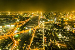 View across Bangkok skyline by Stock Images