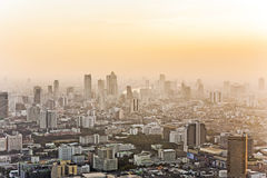 View across Bangkok skyline showing Royalty Free Stock Photo