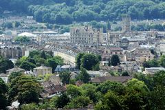 Skyline of Bath England UK Stock Image