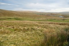 View across Batty Moss at the Ribble Valley. In the Yorkshire Dales National Park. landscape orientation in colour. Taken early in the morning on a crisp royalty free stock images