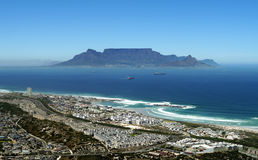 View across the bay to table mountain, south africa Royalty Free Stock Images