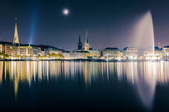 View across the Binnenalster, Hamburg, Germany Stock Image