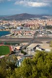 View across the border into Spain royalty free stock photo
